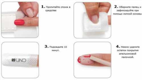 Снятие шеллака в домашних условиях жидкостью для снятия лака 145