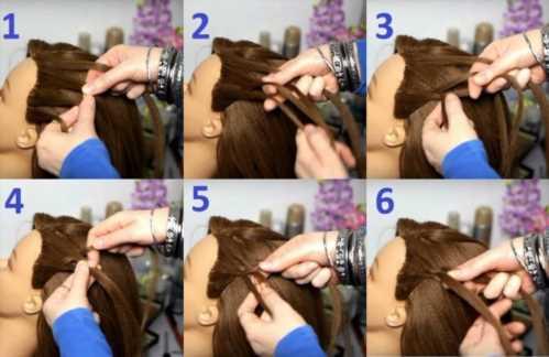 Как заплести косу с лентой пошаговое фото