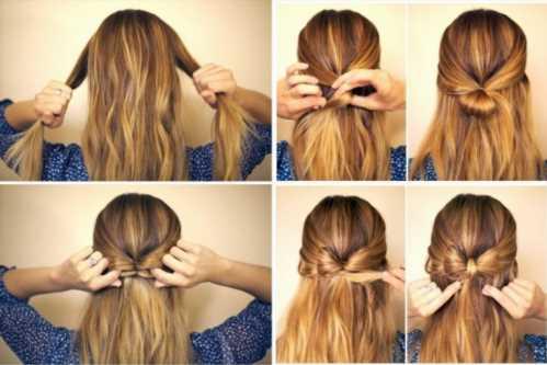 Милые прически на длинные волосы своими руками 17